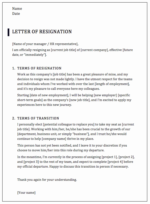 Professional Letter Of Resignation Elegant How to Write A Professional Resignation Letter [samples