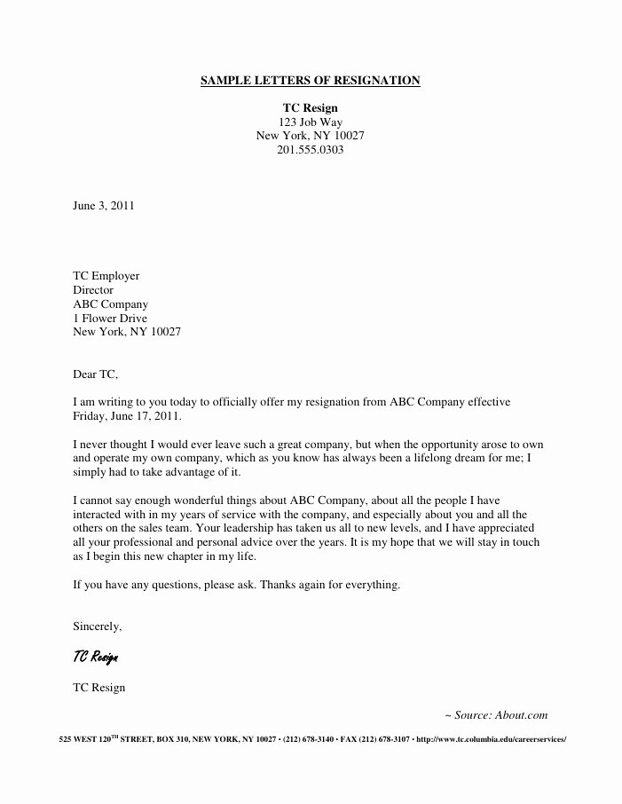Professional Letter Of Resignation Unique Resignation Letter Samples Download Pdf Doc format