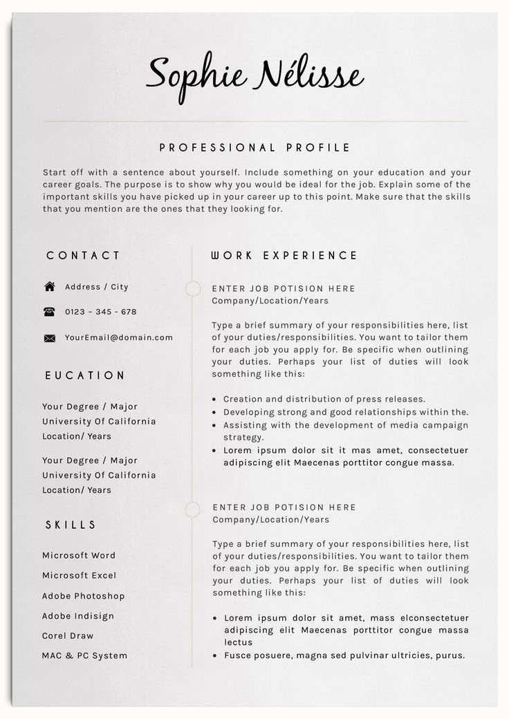 Professional Resume Template Word Beautiful 25 Best Ideas About Professional Resume Template On