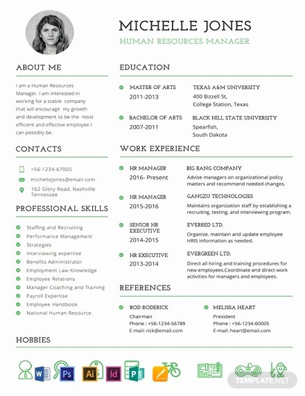 Professional Resume Template Word Beautiful Free Professional Hr Resume Template Word