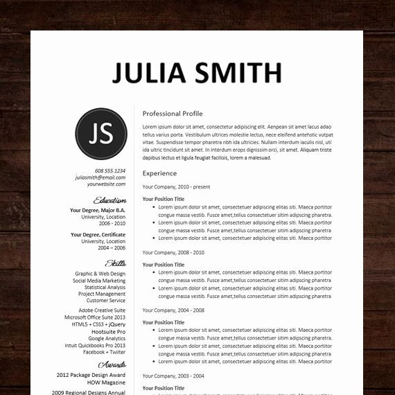 Professional Resume Template Word Best Of 17 Best Ideas About Professional Resume Design On