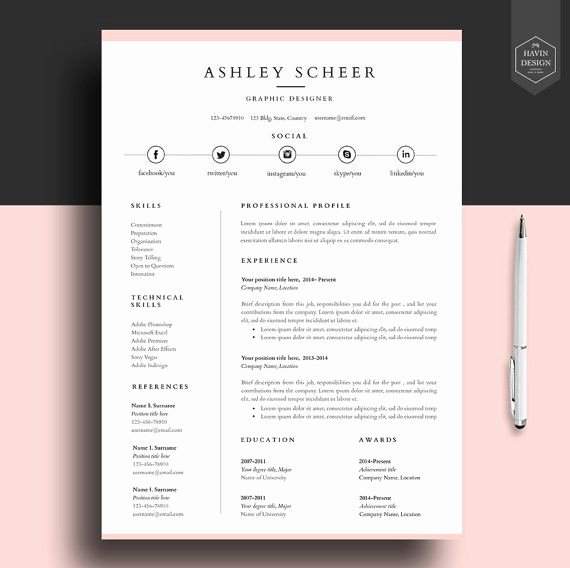 Professional Resume Template Word Fresh Professional Resume Template Resume Template for Word Cv