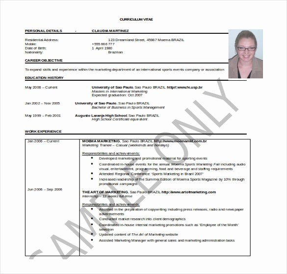 Professional Resume Template Word Inspirational 26 Word Professional Resume Template Free Download