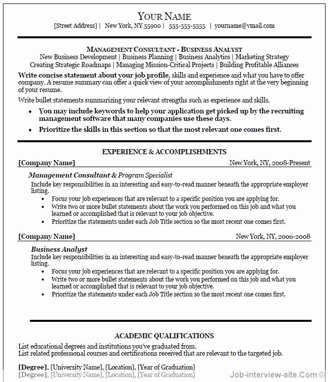 Professional Resume Template Word Inspirational Free 40 top Professional Resume Templates
