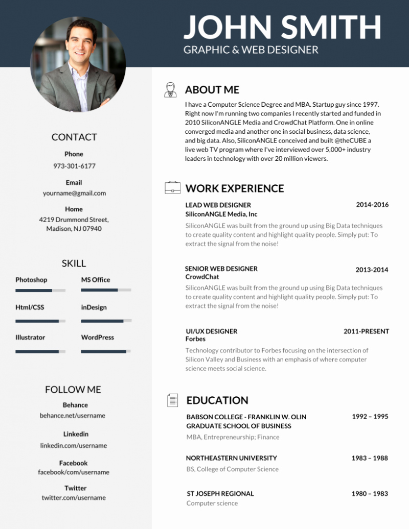 Professional Resume Template Word Lovely 50 Most Professional Editable Resume Templates for