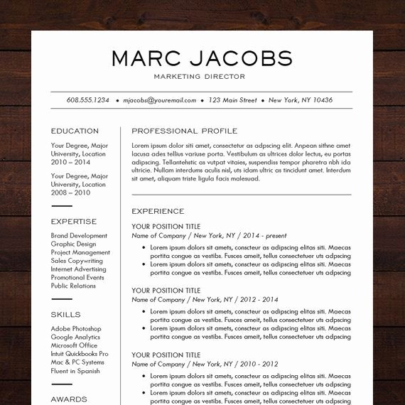Professional Resume Template Word New 1000 Ideas About Professional Resume Template On