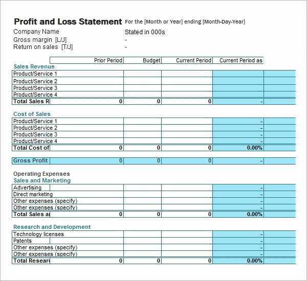Profit Loss Statement Example Lovely Free 21 Sample Profit and Loss Templates In Google Docs