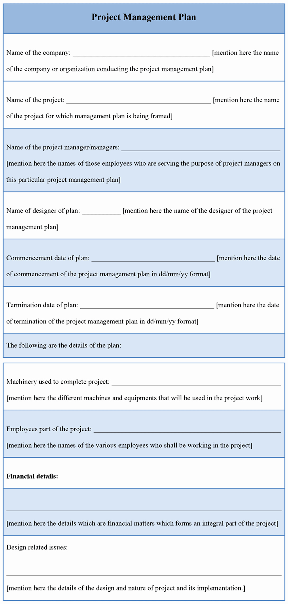 Project Management Plan Example Best Of Plan Template for Project Management Example Of Project