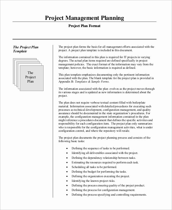Project Management Plan Example Fresh Sample Project Management Plan 15 Examples In Word Pdf