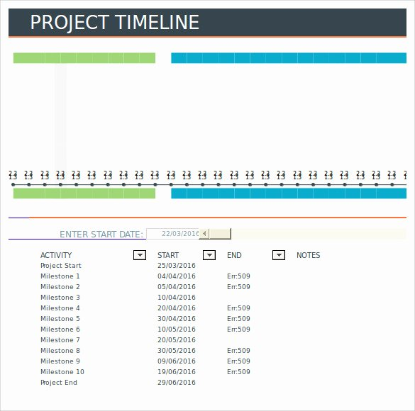 Project Timeline Template Word Inspirational Free 10 Sample Project Timeline Templates In Word