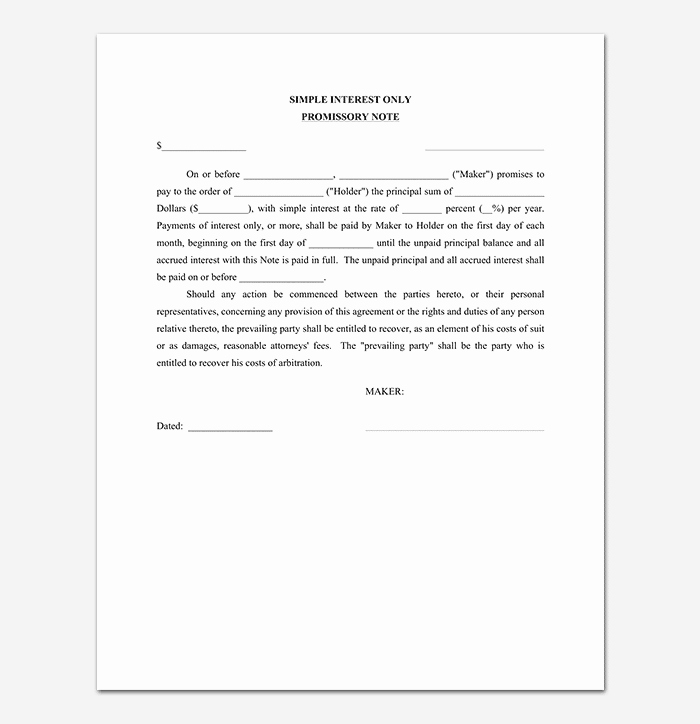 Promissory Notes Templates Free New Promissory Note Template 20 Free for Word Pdf