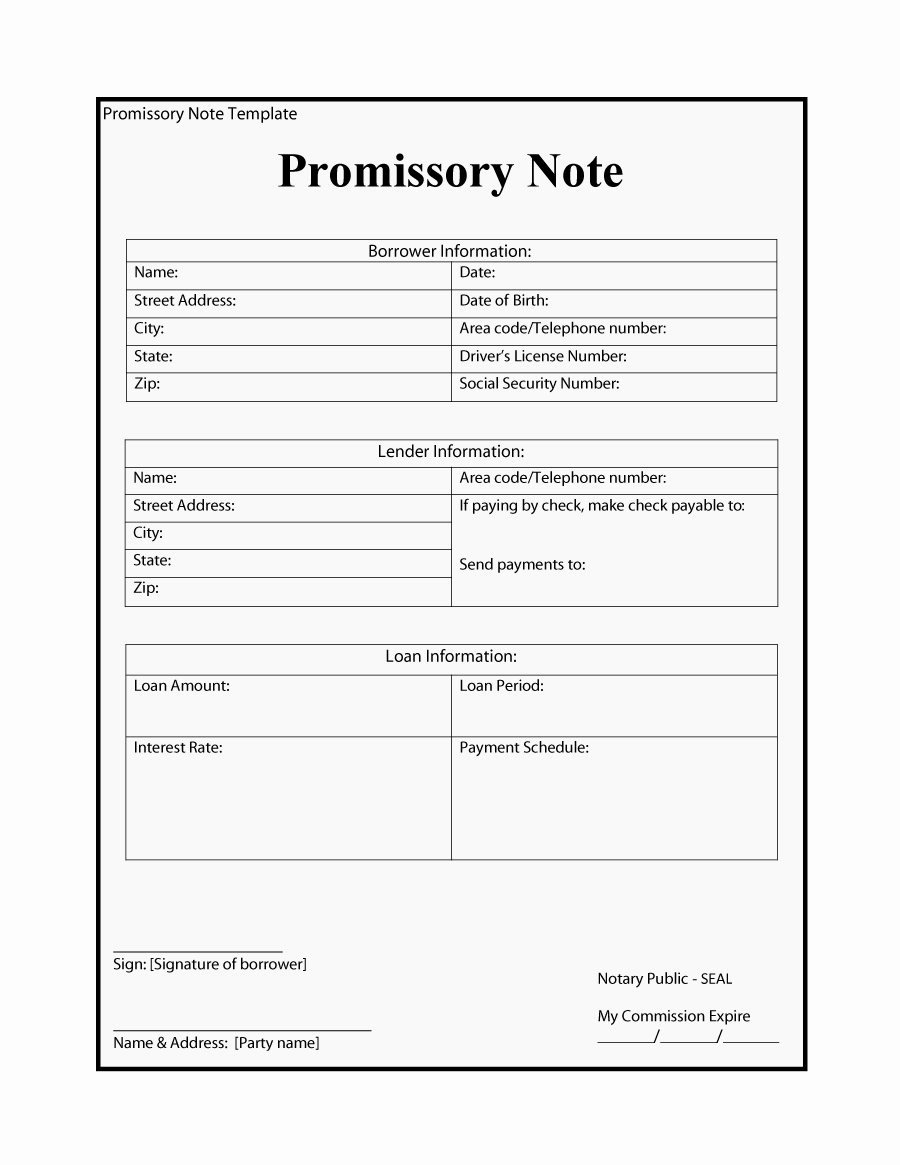 Promissory Notes Templates Free Unique 45 Free Promissory Note Templates & forms [word & Pdf]