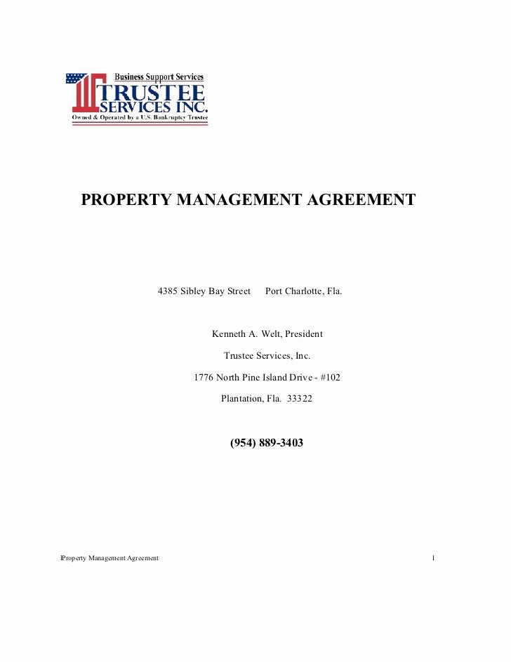 Property Management Agreement Pdf Beautiful Tsi Residential Propertyl Management Agreement