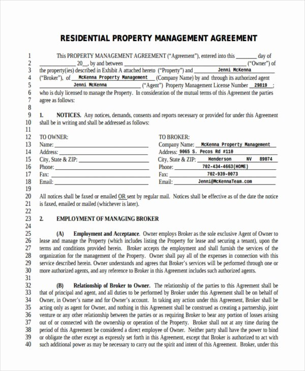 Property Management Agreement Pdf Best Of Free 64 Management Agreement Examples & Samples In Pdf
