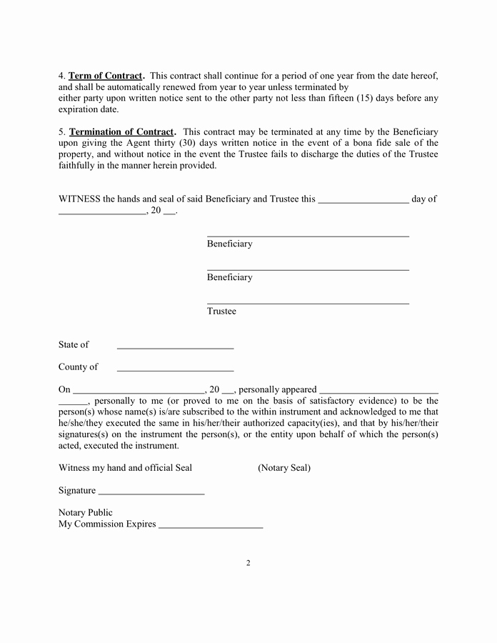 Property Management Agreement Pdf Elegant Property Management Agreement Sample In Word and Pdf