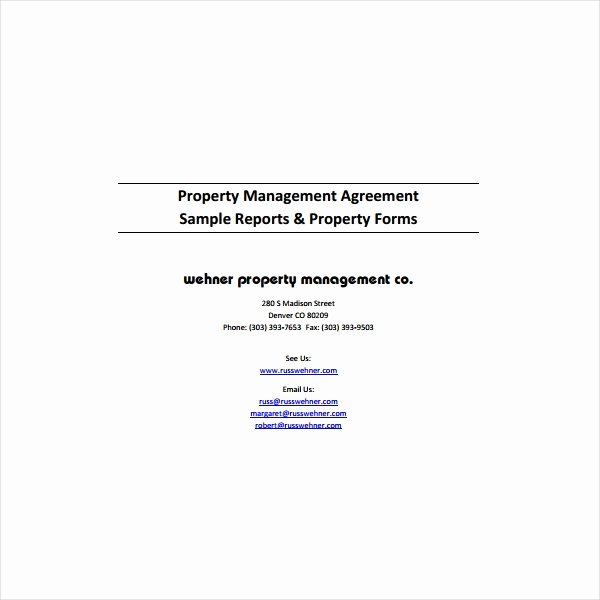 Property Management Agreement Pdf Fresh 9 Property Management Agreement Templates Pdf Word