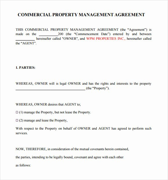 Property Management Agreement Pdf Inspirational Free 10 Sample Property Management Agreement Templates In