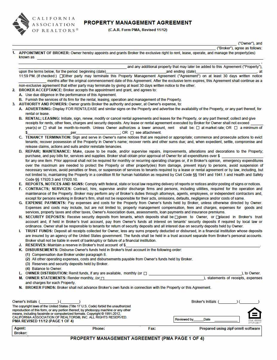 Property Management Agreement Pdf New Property Management Agreement Pdf