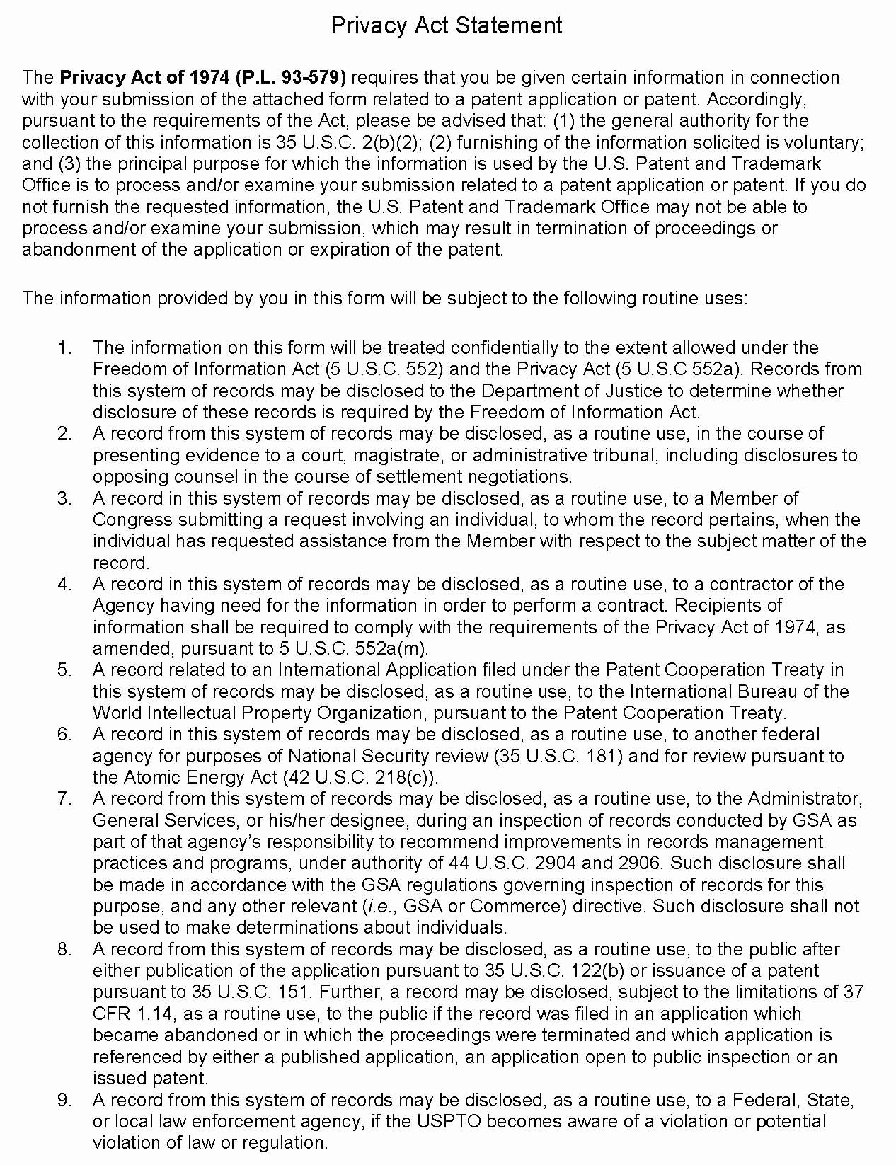 Provisional Patent Application form Elegant 201