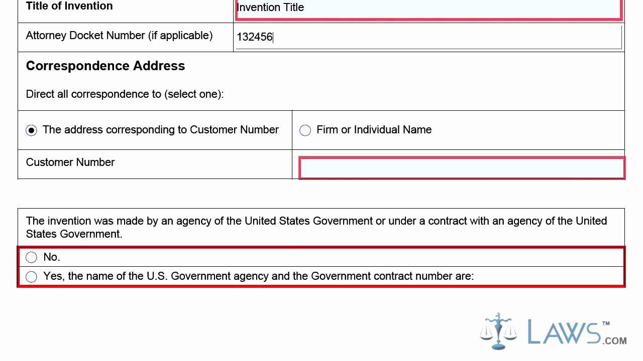 Provisional Patent Application form Fresh Provisional Application for Patent Cover Sheet Sb16