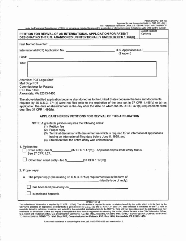 Provisional Patent Application form Inspirational Provisional Patent Application form Application for