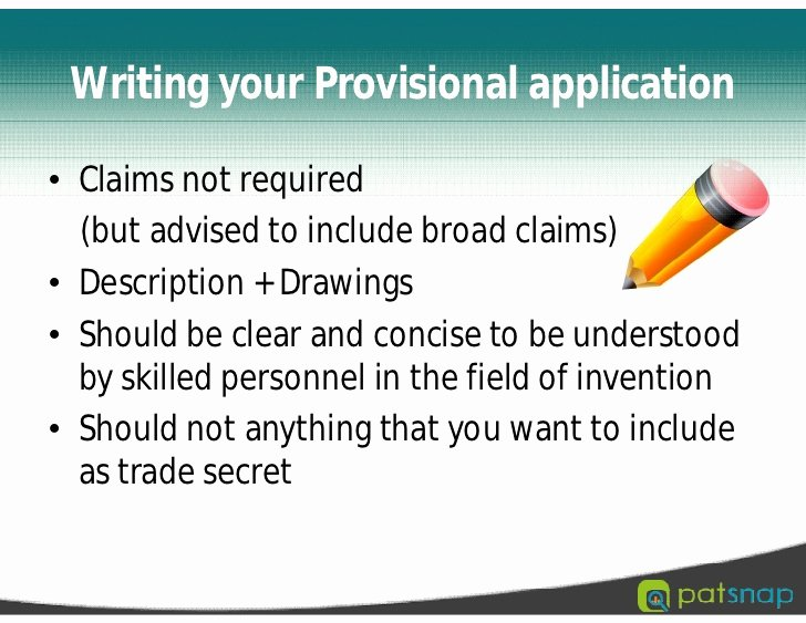 Provisional Patent Application form New Provisional Patent Application