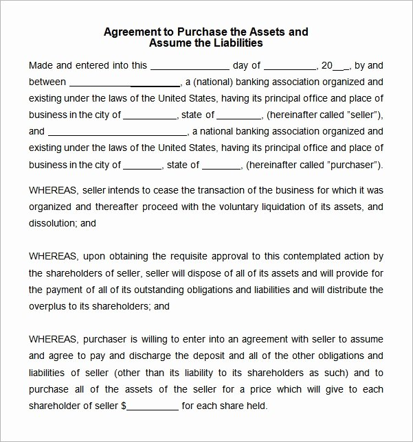 Purchase Agreement Template Word Awesome Free 10 Sample asset Purchase Agreement Templates In