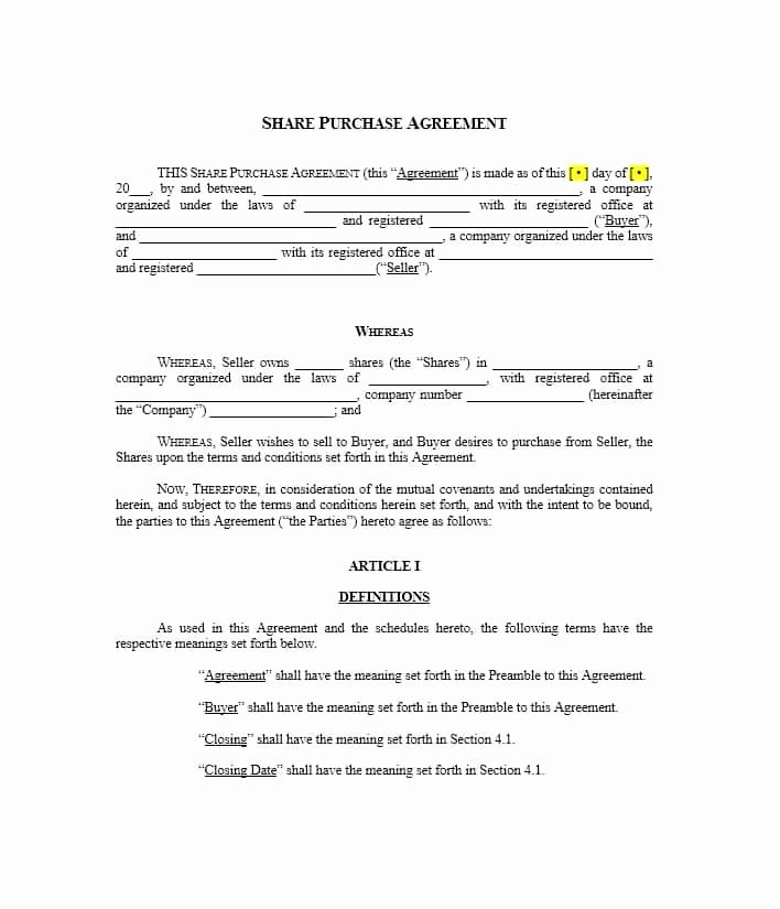 Purchase Agreement Template Word Best Of 37 Simple Purchase Agreement Templates [real Estate Business]