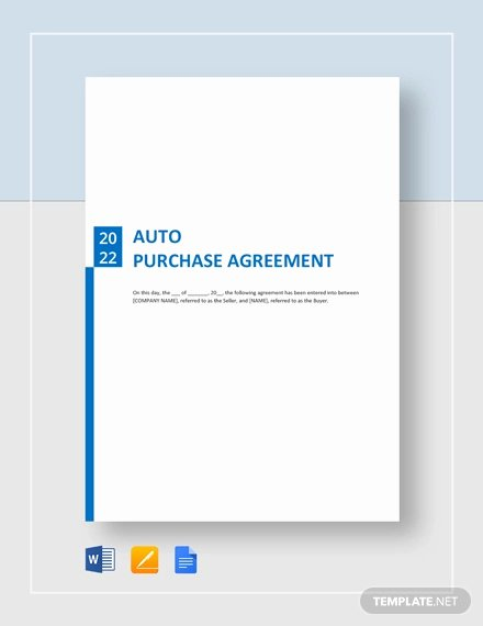 Purchase Agreement Template Word Fresh Purchase Agreement Template 28 Free Word Pdf Document