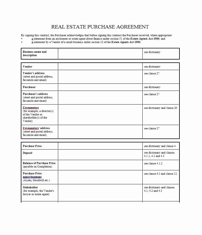 Purchase Agreement Template Word Inspirational 37 Simple Purchase Agreement Templates [real Estate Business]