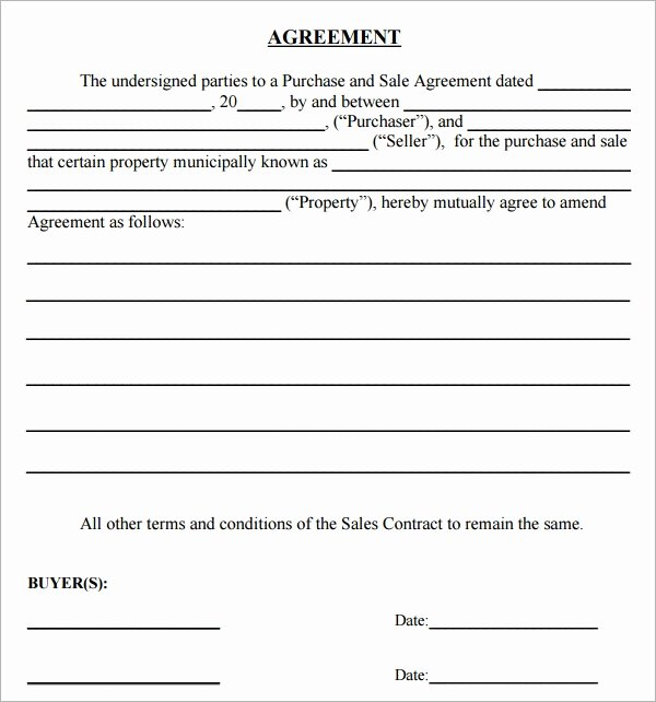 Purchase Agreement Template Word Inspirational Purchase Agreement 15 Download Free Documents In Pdf Word