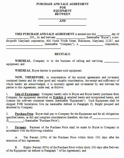 Purchase Agreement Template Word New Sales Contract Template Word How to Create Your Own