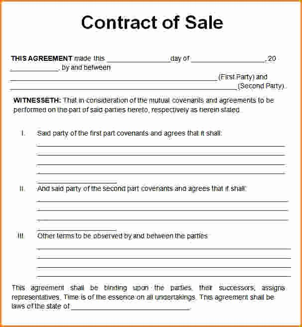 Purchase Agreement Template Word Unique Sales Contract Template Word