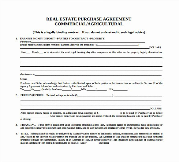Real Estate Contract Template Awesome Sample Home Purchase Agreement 6 Documents In Pdf Word