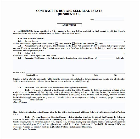Real Estate Contract Template Lovely 14 Real Estate Contract Templates Word Pages Docs