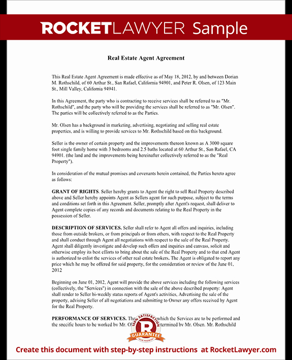 Real Estate Contract Template Lovely Real Estate Agent Contract Independent Contractor