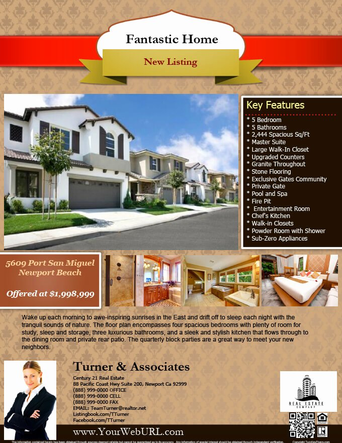 Real Estate Flyer Ideas Lovely Real Estate Flyers Pdf Templates Turnkey Flyers