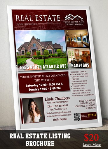 Real Estate Flyer Ideas Lovely Real Estate Listing Brochure