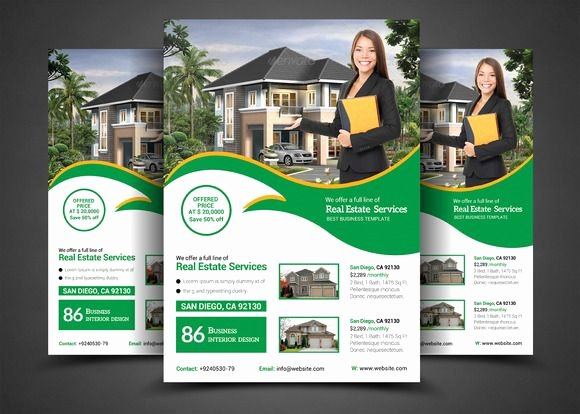 Real Estate Flyer Ideas Luxury Real Estate Flyer Template by Afzaalgraphics On