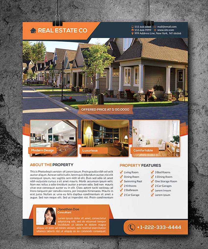 Real Estate Flyer Templates Beautiful 40 Professional Real Estate Flyer Templates themekeeper