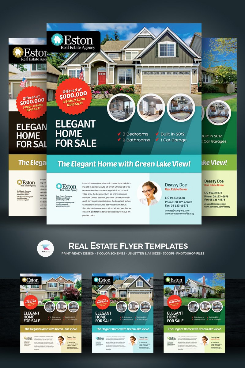 Real Estate Flyer Templates Beautiful Real Estate Flyer Corporate Identity Template