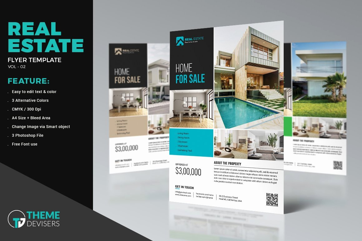 Real Estate Flyer Templates Beautiful Real Estate Flyer Template Flyer Templates Creative Market