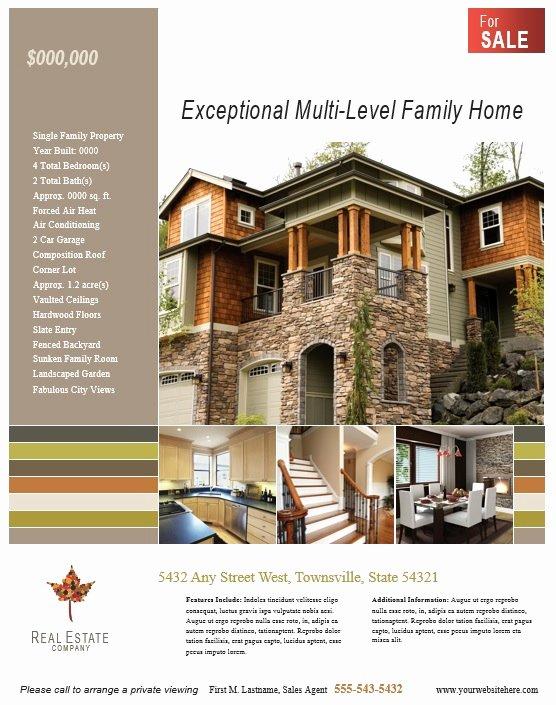 Real Estate Flyer Templates Elegant 8 Free Sample Real Estate Agent Flyer Templates