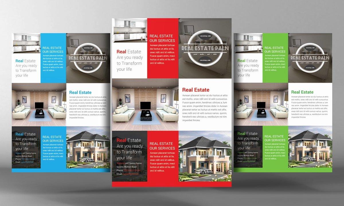 Real Estate Flyer Templates Elegant Real Estate Flyer Flyer Templates Creative Market