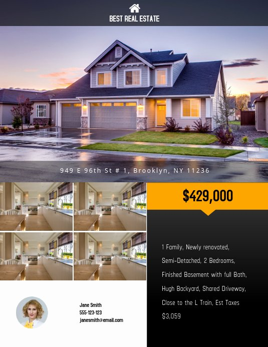 Real Estate Flyer Templates Fresh Copy Of Real Estate Flyer Template