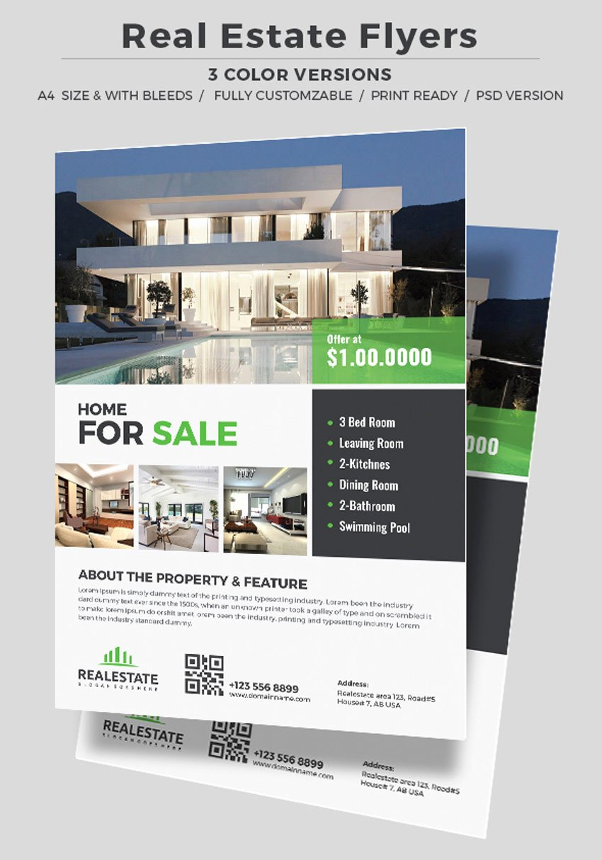 Real Estate Flyer Templates Lovely 40 Professional Real Estate Flyer Templates themekeeper