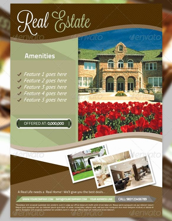 Real Estate Flyer Templates Luxury 13 Real Estate Flyer Templates Excel Pdf formats
