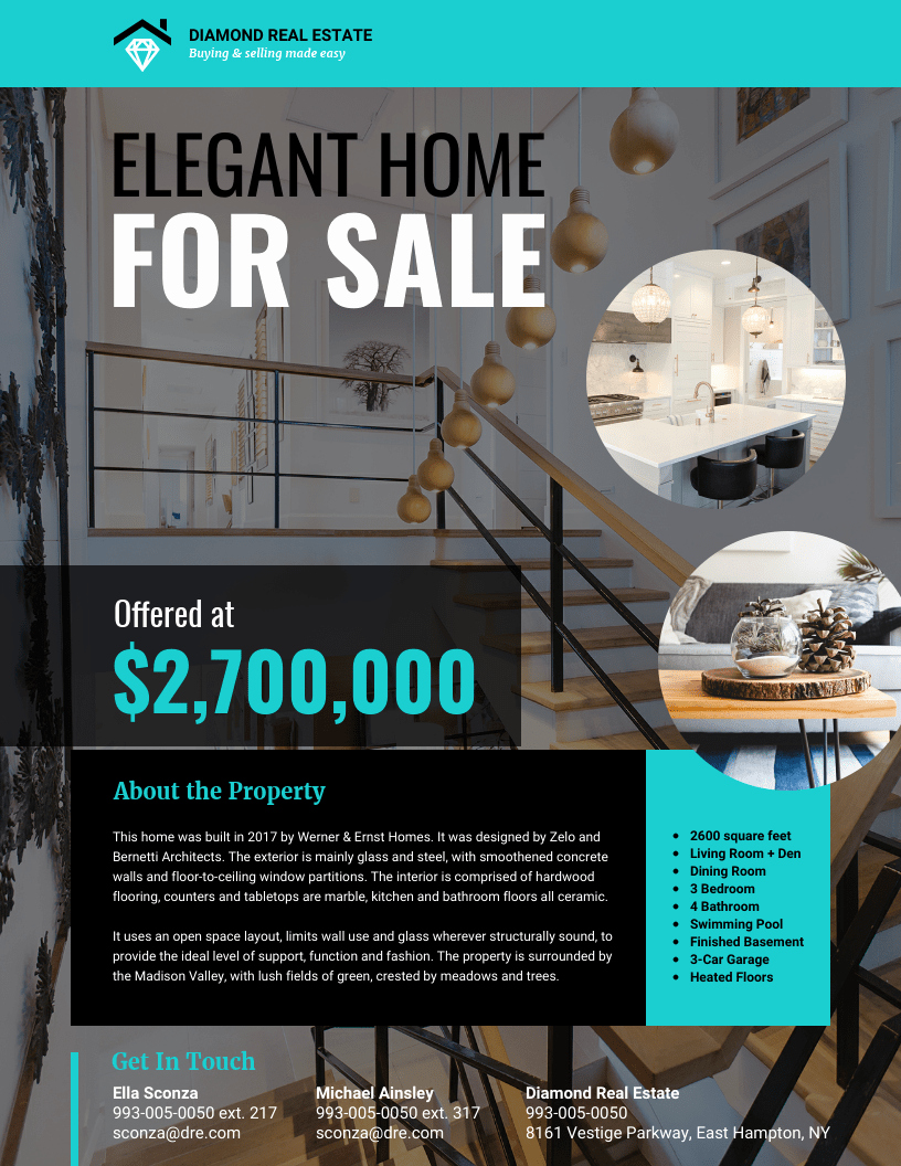 Real Estate Flyer Templates Unique Modern Real Estate Flyer Template Venngage