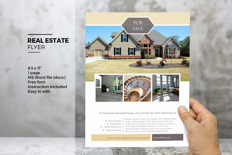 Real Estate Flyer Templates Unique Ms Word Real Estate Flyer Template Flyer Templates