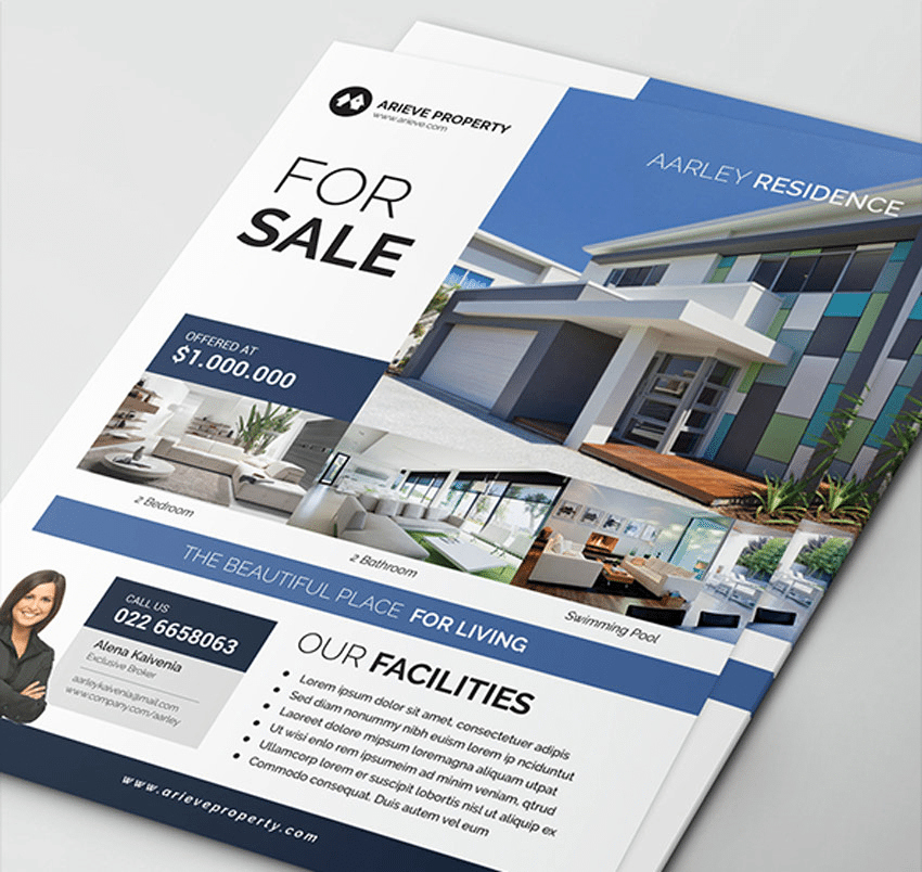 Real Estate Marketing Flyers Beautiful top 29 Free & Paid Real Estate Flyer Templates 2019